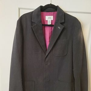 Armani Exchange Striped Sports Coat